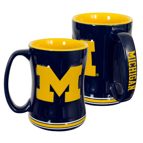 CMMI01 Sculpted Raised Coffee Mug - University of Michigan
