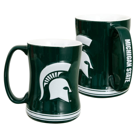CMMS01 Sculpted Raised Coffee Mug - Michigan State University