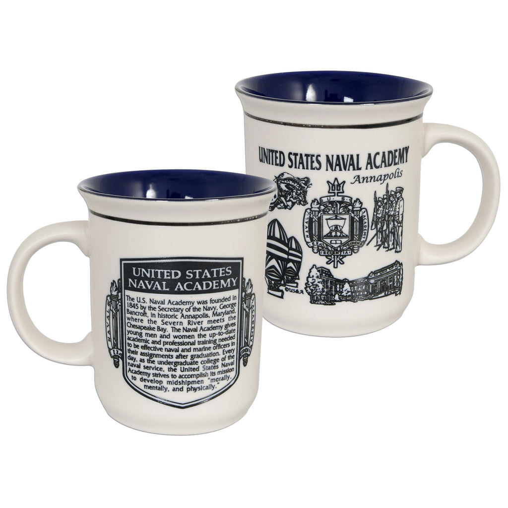 CMNA05 Coffee Mug Etched - US Naval Academy History