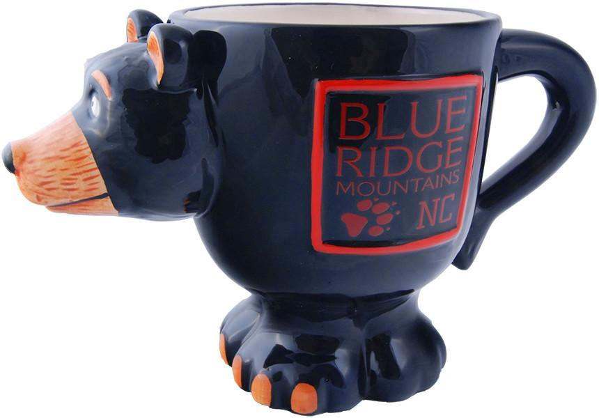 CMNC03 Coffee Mug Black Bear Shape North Carolina