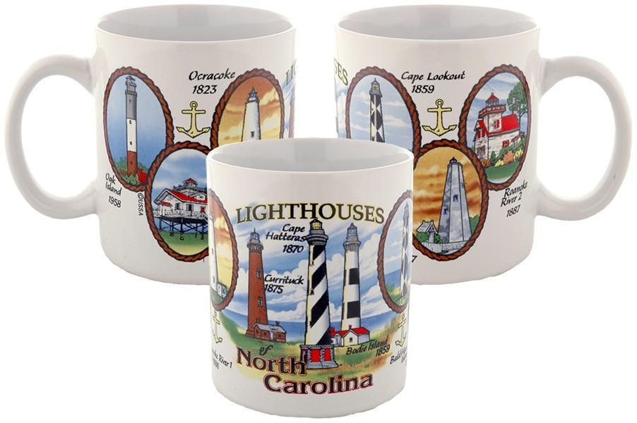 CMNC04 Coffee Mug Lighthouses of North Carolina