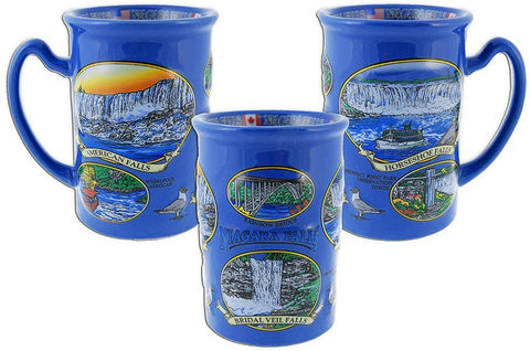 CMNF05 Coffee Mug Blue Raised Niagara Falls