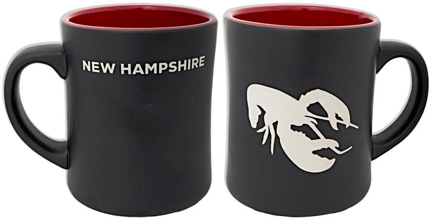 CMNH13 Coffee Mug Black Etch New Hampshire Lobster