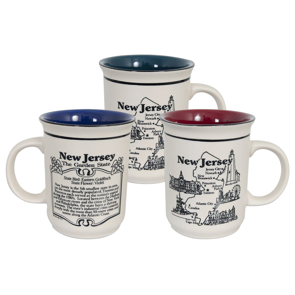 CMNJ05 Coffee Mug Etched - New Jersey History