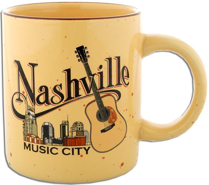 CMNT01 Coffee Mug Tan Speckled Nashville Music City