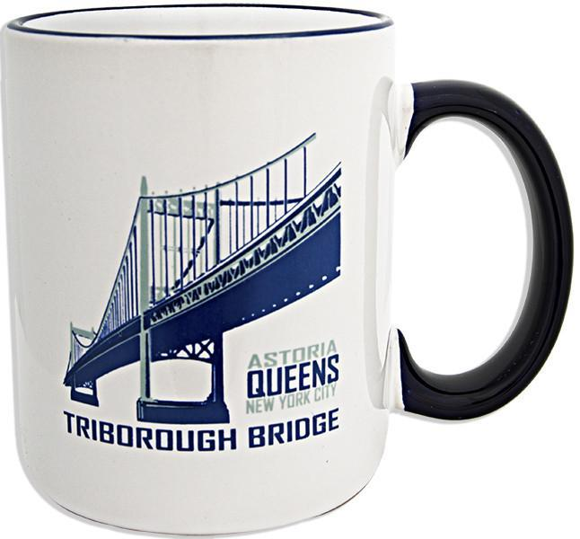 CMNY20 Coffee Mug White Cobalt Triborough Bridge