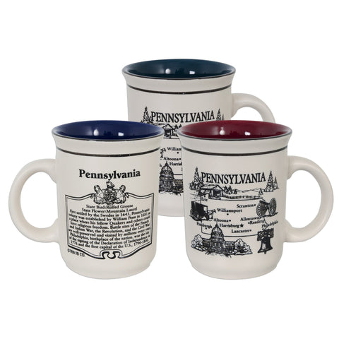 CMPA01 Coffee Mug Etched - Pennsylvania History