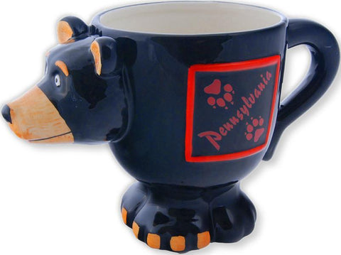 CMPA05 Coffee Mug Black Bear Shape Pennsylvania