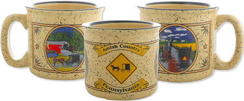 CMPA09 Campfire Mug Tan Amish Country PA