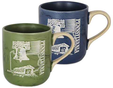 CMPA11 Coffee Mug Marble Green Blue Pennsylvania