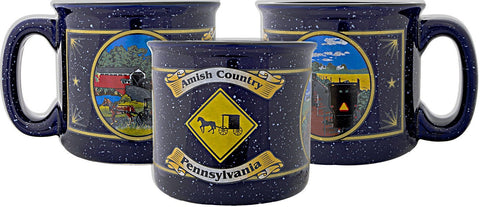 CMPA19 Campfire Mug Cobalt Amish Country Pennsylvania