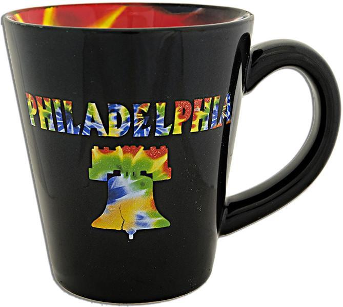 CMPH19 Coffee Mug Black Tapered Philadelphia Tie Dye
