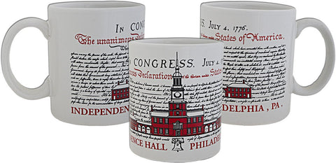 CMPH31 Coffee Mug Declaration of Independence Philadelphia