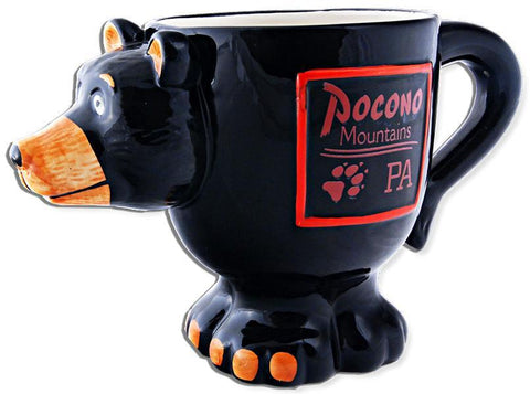 CMPM03 Coffee Mug Black Bear Shape Pocono Mountains