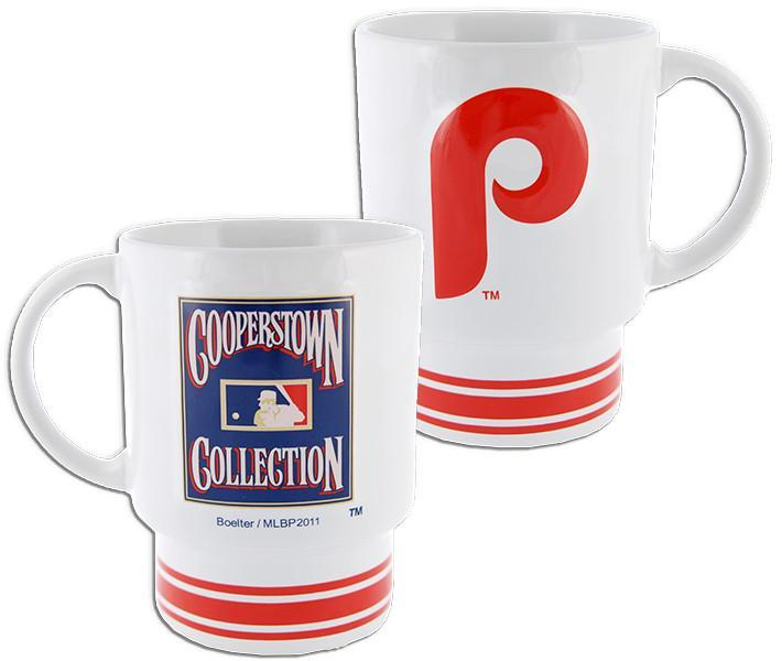 CMPP03 Coffee Mug White Philles Cooperstown Collection