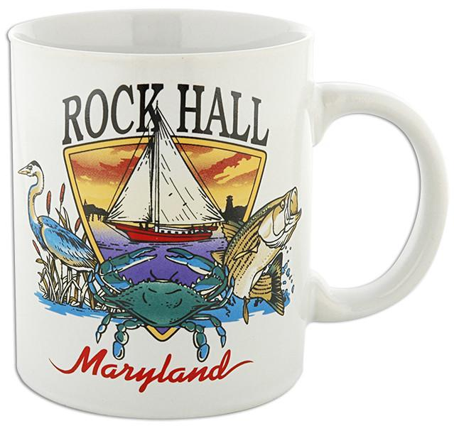CMRH01 Coffee Mug Bay Scene Rock Hall Maryland