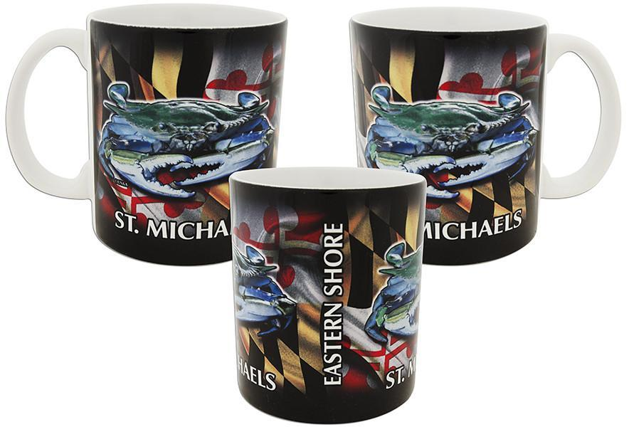 CMSM01 Coffee Mug Crab Flag Wrap St Michaels