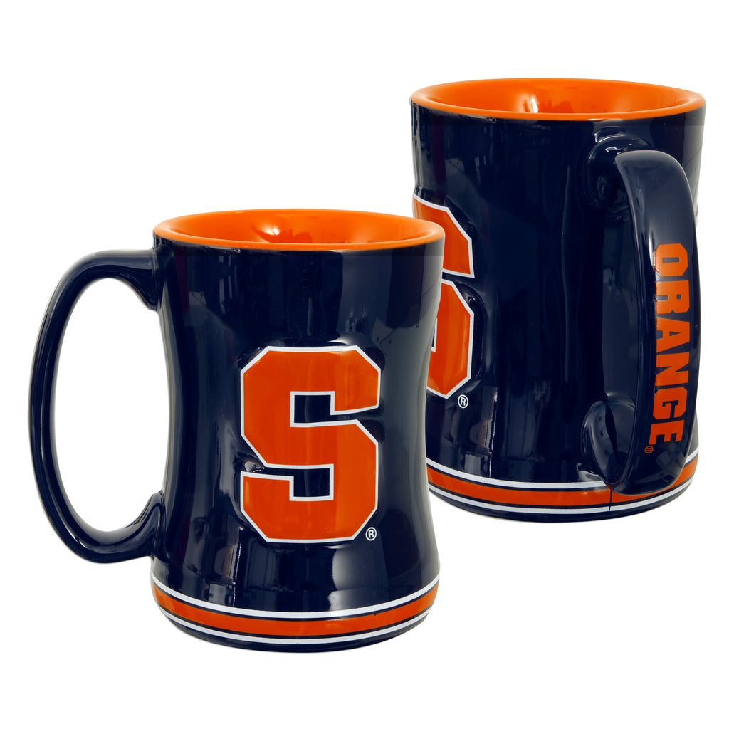 CMSU01 Sculpted Raised Coffee Mug - Syracuse University