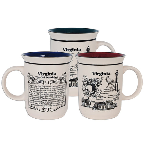 CMVA06 Coffee Mug Etched Virginia History
