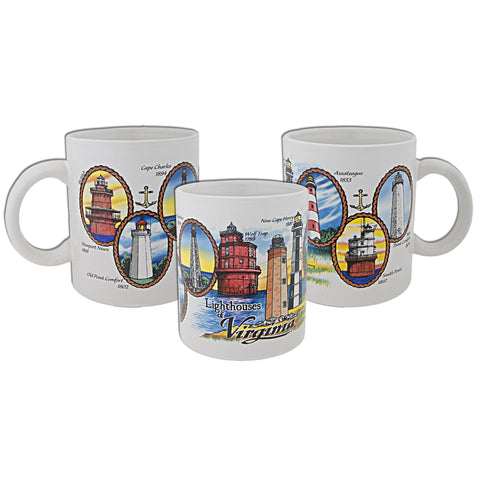 Coffee Mug Lighthouses of Virginia