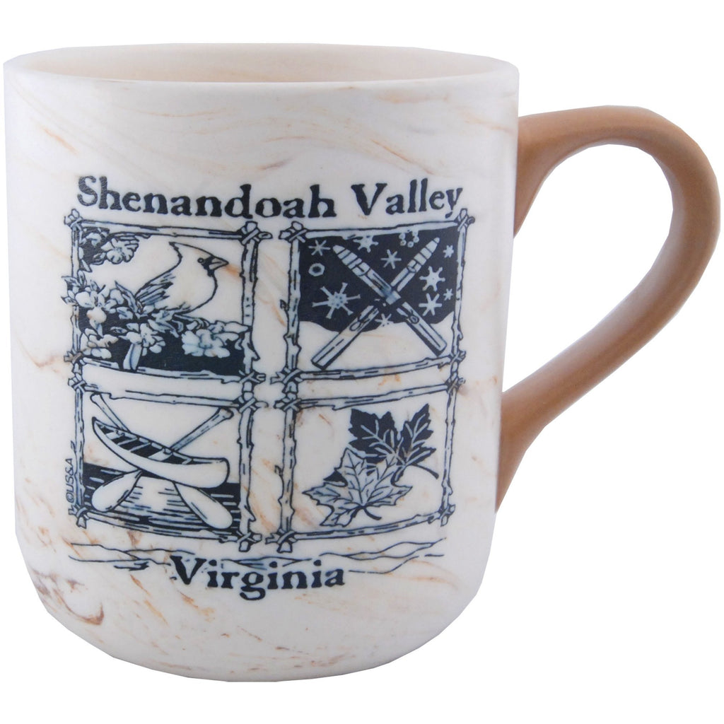 CMVA29 Coffee Mug Tan Marble Shenandoah Valley