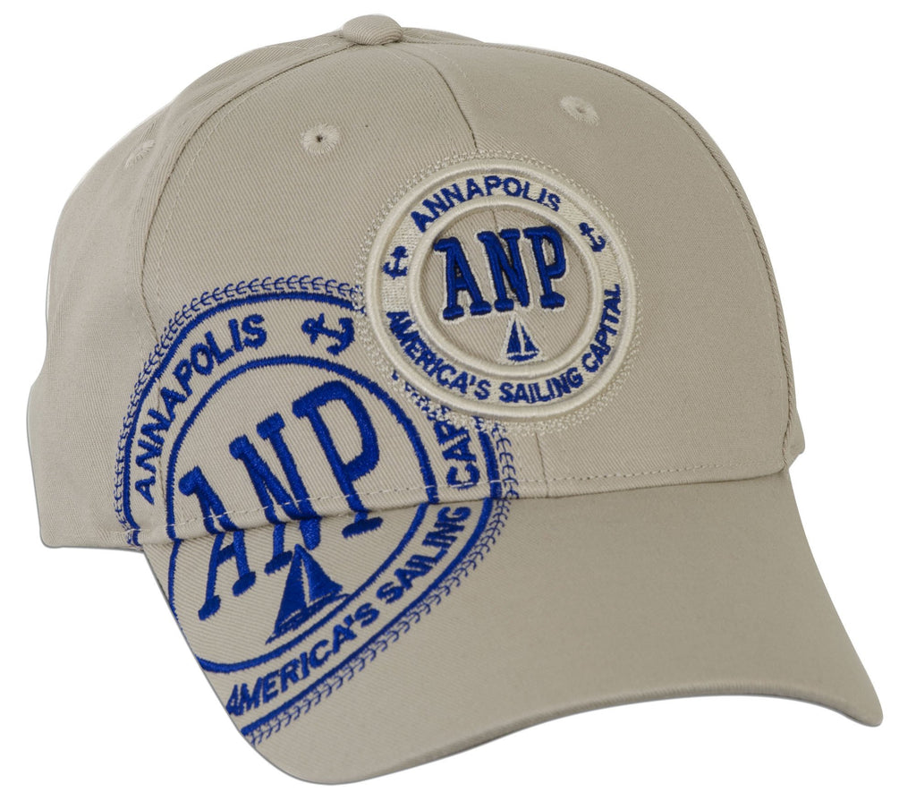 CPAM03 Robin Ruth Cap - Annapolis ANP Stamp - KHAKI with Royal