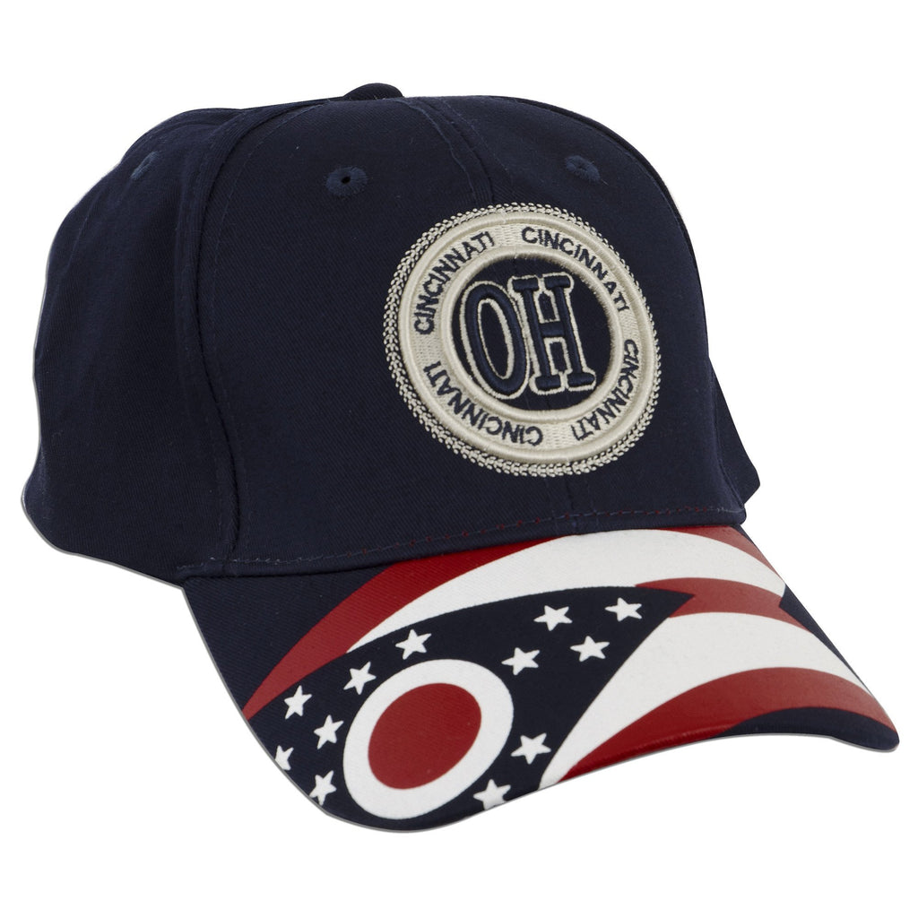 CPCC12 Cap - Cincinnati OH Stamp with Ohio Flag NAVY