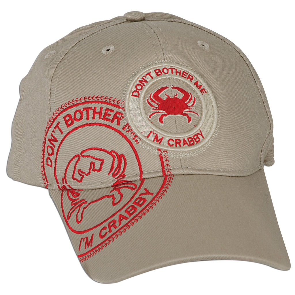 CPCR01 Robin Ruth Cap I'm Crabby Stamp Khaki with Red