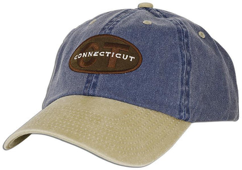 CPCT01 Baseball Cap Suede Oval CT Connecticut