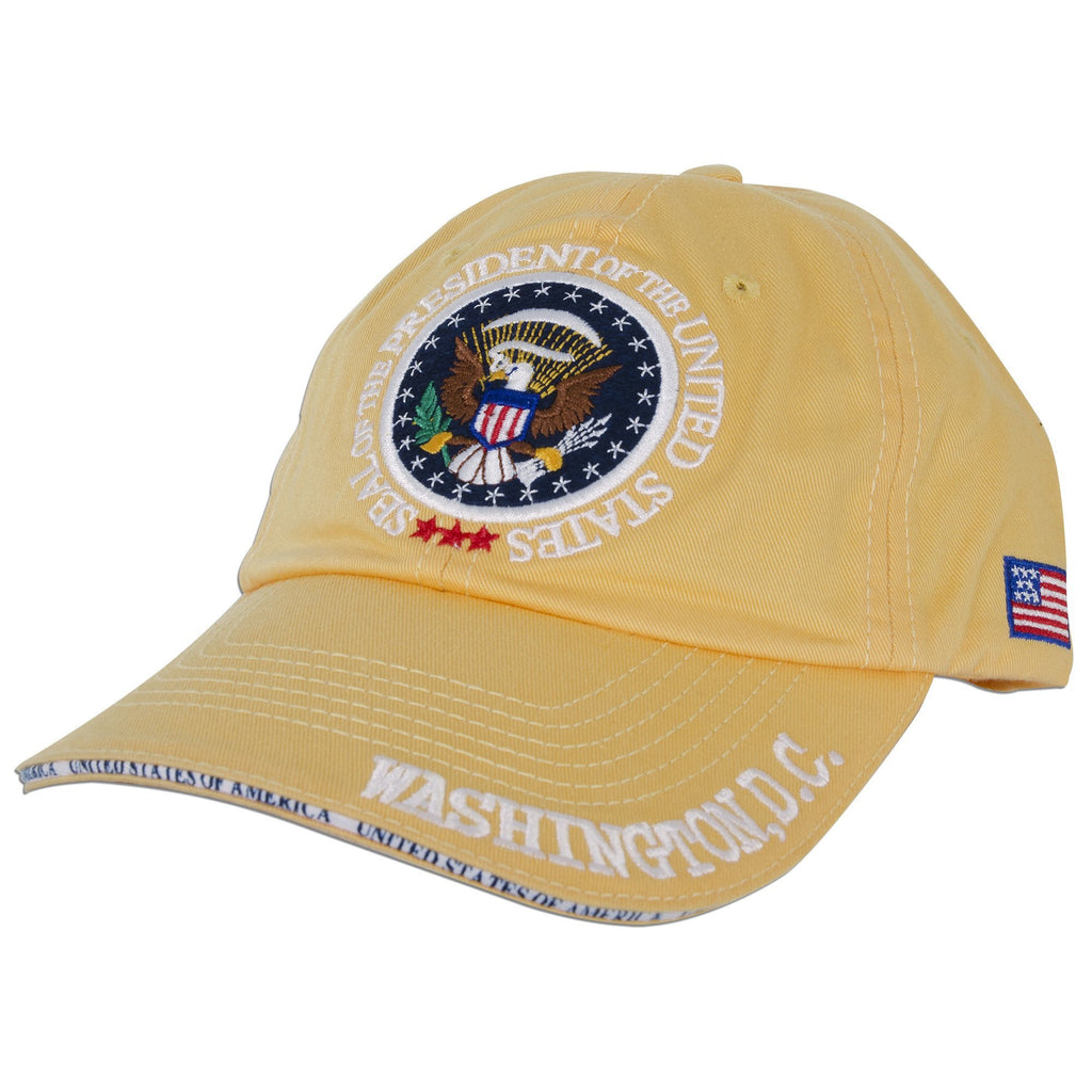 CPDC02 Baseball Cap Yellow with Washed Washington DC USA Seal