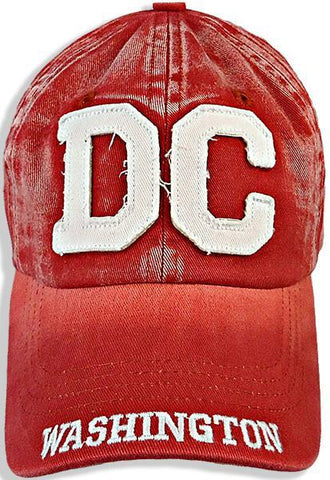 CPDC36-D Robin Ruth Baseball Cap DC Block Faded Red