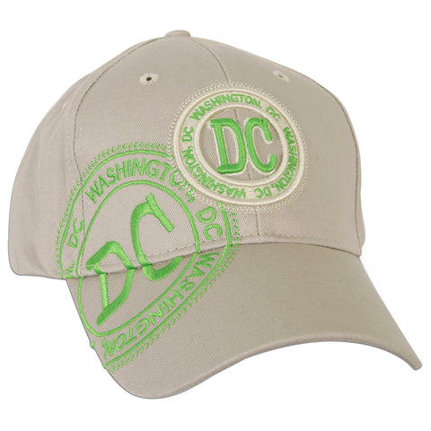 CPDC39 Robin Ruth Baseball Cap DC Stamp Khaki with Neon Green