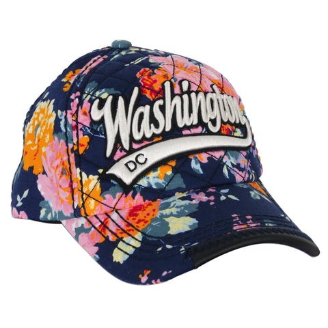 CPDC66-D Robin Ruth Baseball Cap NAVY with Blossoms Washington DC