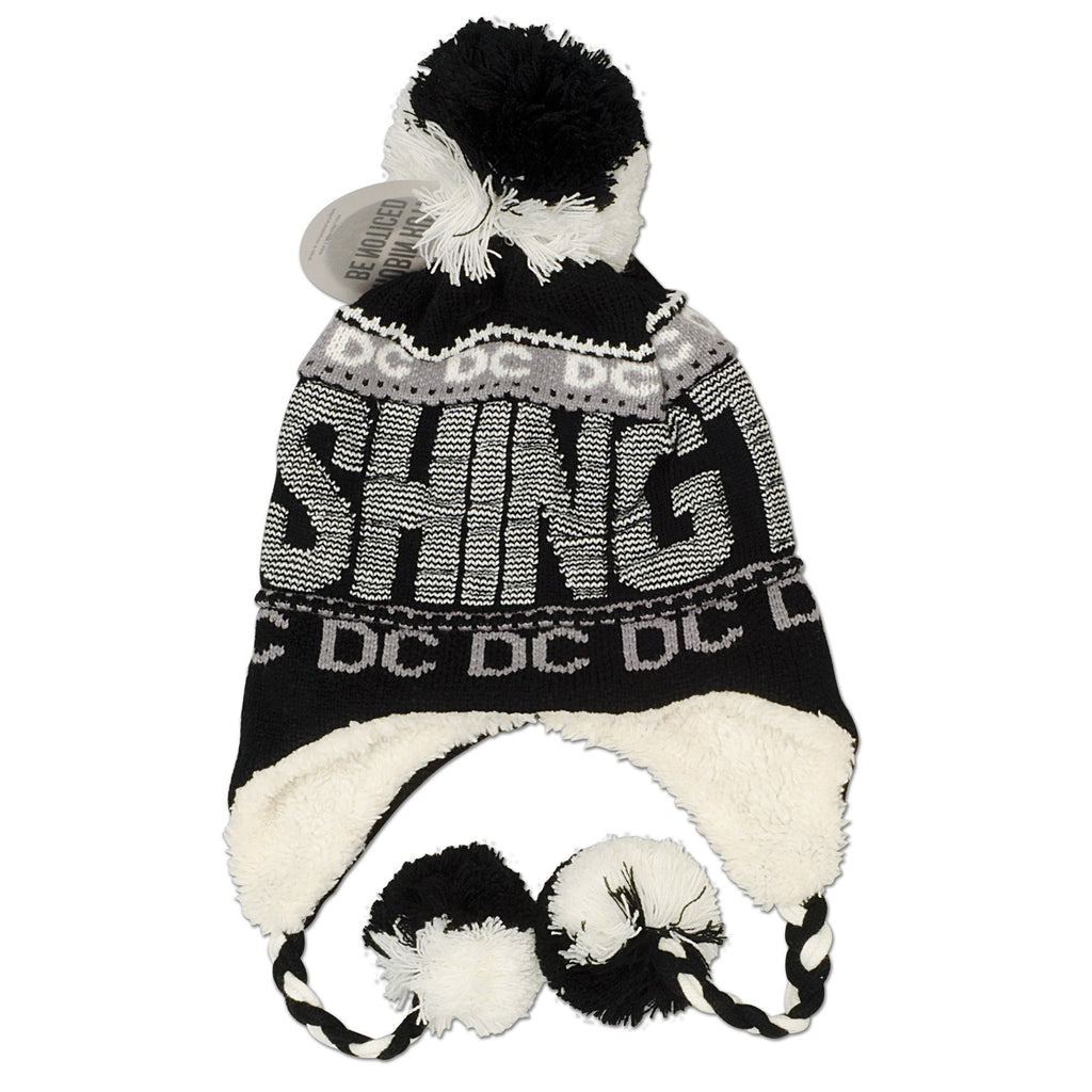 CPDC96-B Robin Ruth Knit Cap with Pom Washington DC BLACK BLACK
