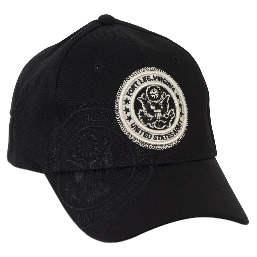 CPFLE02 Robin Ruth Cap - Fort Lee with Eagle Stamp BLACK