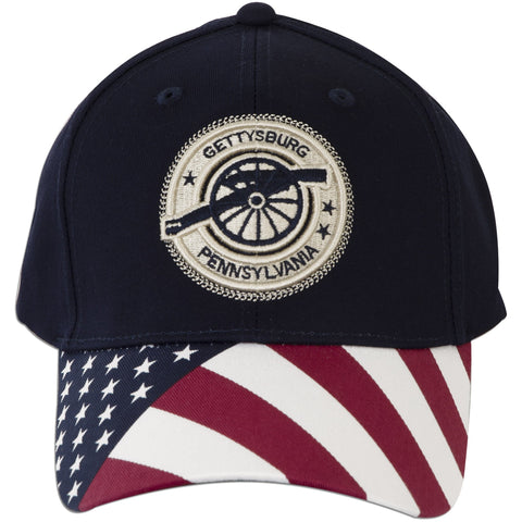 CPGP10 Cap Gettysburg Stamp with US Flag NAVY