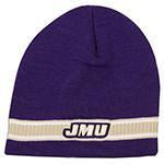 CPJM52 Knit Beanie Purple with Stripe - James Madison