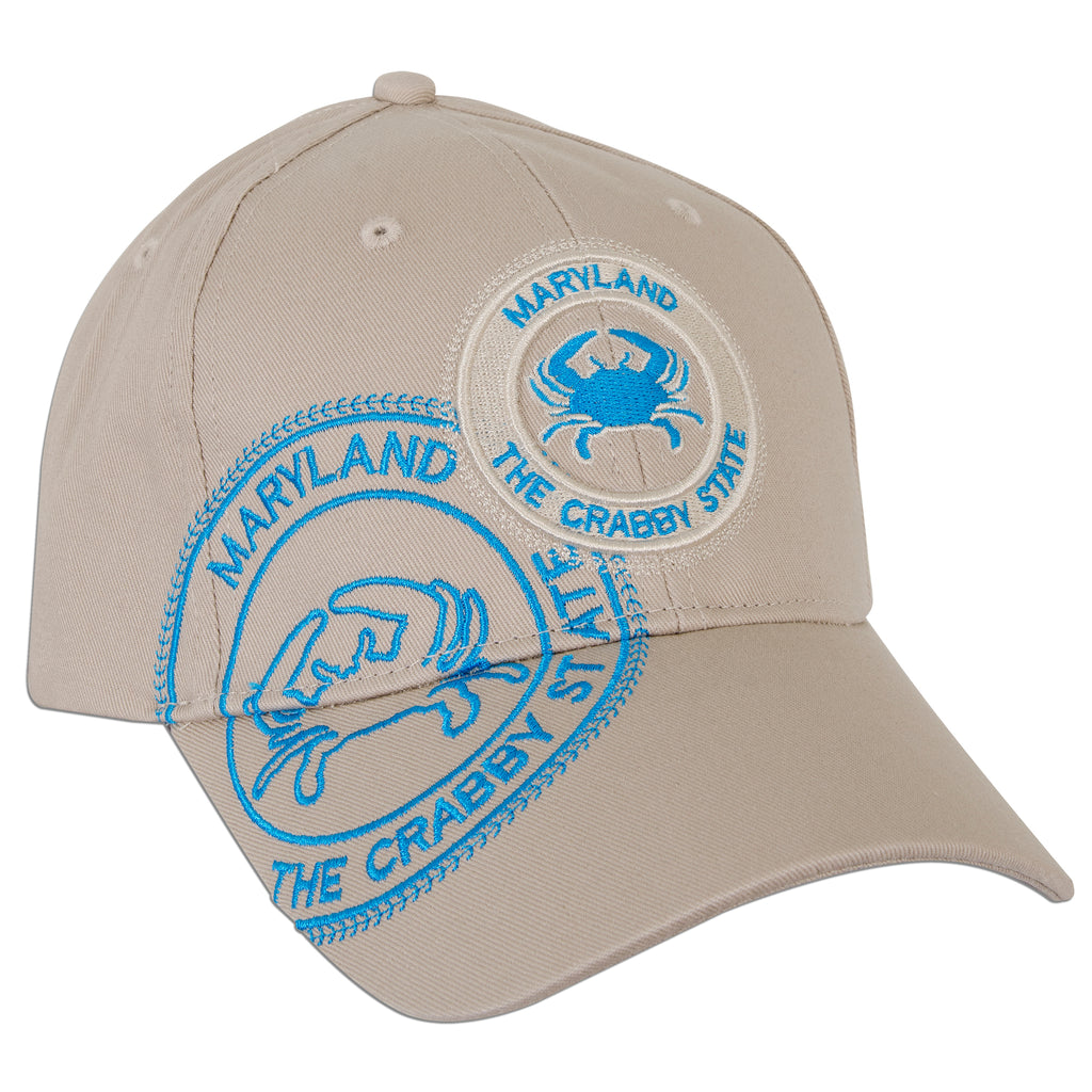 CPMD02 Baseball Cap - Maryland Crab Stamp  KHAKI