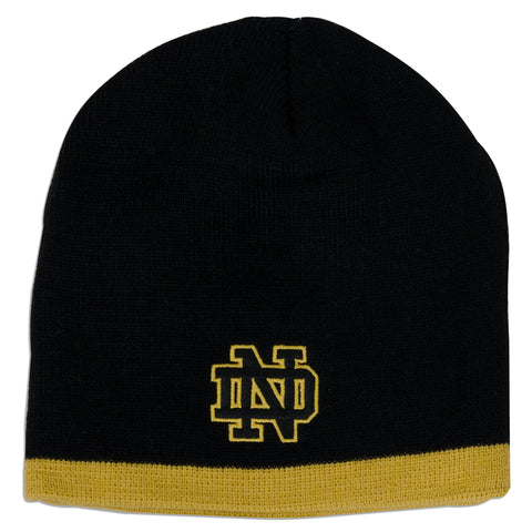 CPND52 Knit Beanie - Notre Dame BLACK/GOLD