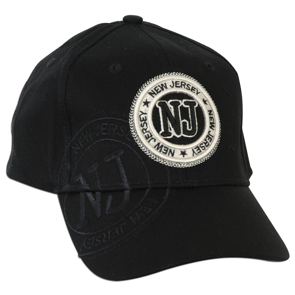 CPNJ03 Cap / New Jersey NJ Stamp - BLACK