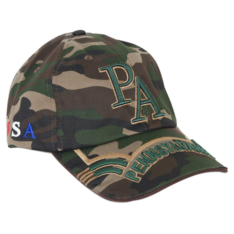 CPPA10 Baseball Cap Green Camo Pennsylvania Raised PA