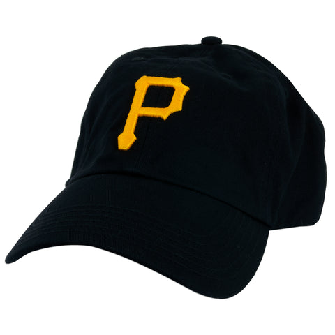 CPPG10 Baseball Cap - Pittsburgh Pirates Clean-Up BLACK WASHED