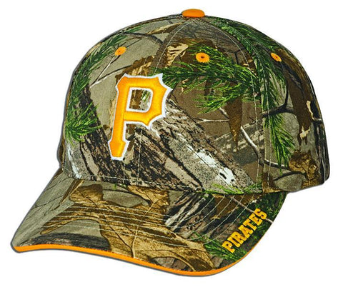CPPG19 Baseball Cap - Pittsburgh Pirates Real Tree Frost CAMO/GOLD