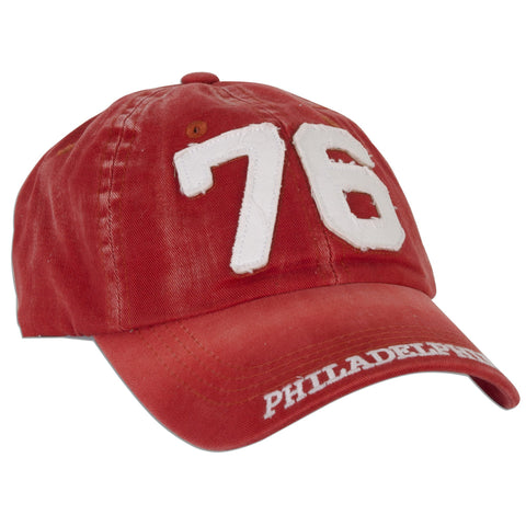 CPPH11 Robin Ruth Cap 76 Philadelphia Washed Red