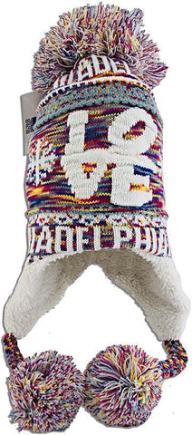 CPPH49 Robin Ruth Knit Cap with Pom Philadelphia Pink Multi