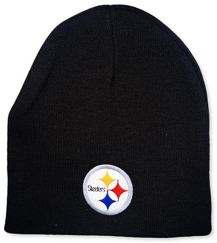 CPST08 Cuffless Beanie Pittsburgh Steelers Logo Black