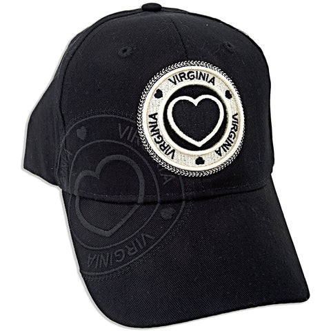 CPVA17 Robin Ruth Cap Virginia Stamp Heart BLACK