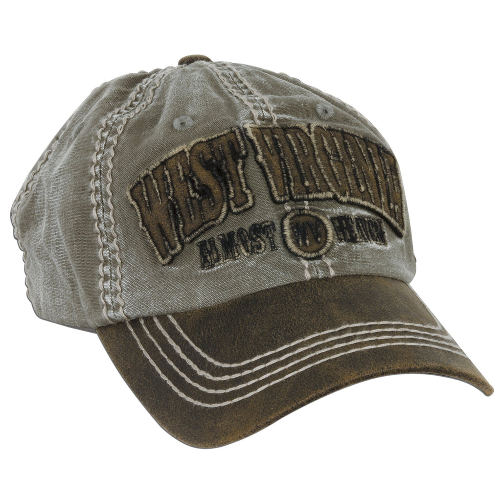 CPWV12 Cap - West Virginia Applique Arch KHAKI