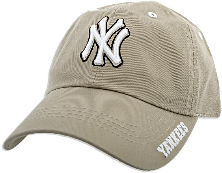 CPYK02 Cap Yankees Garment Washed Stone ICE