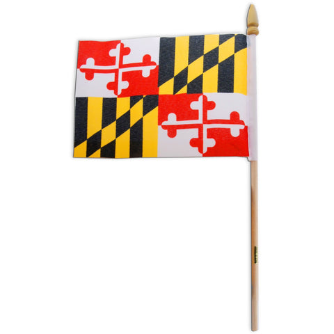 FLMD1 Flag on stick 4 x 6 Maryland